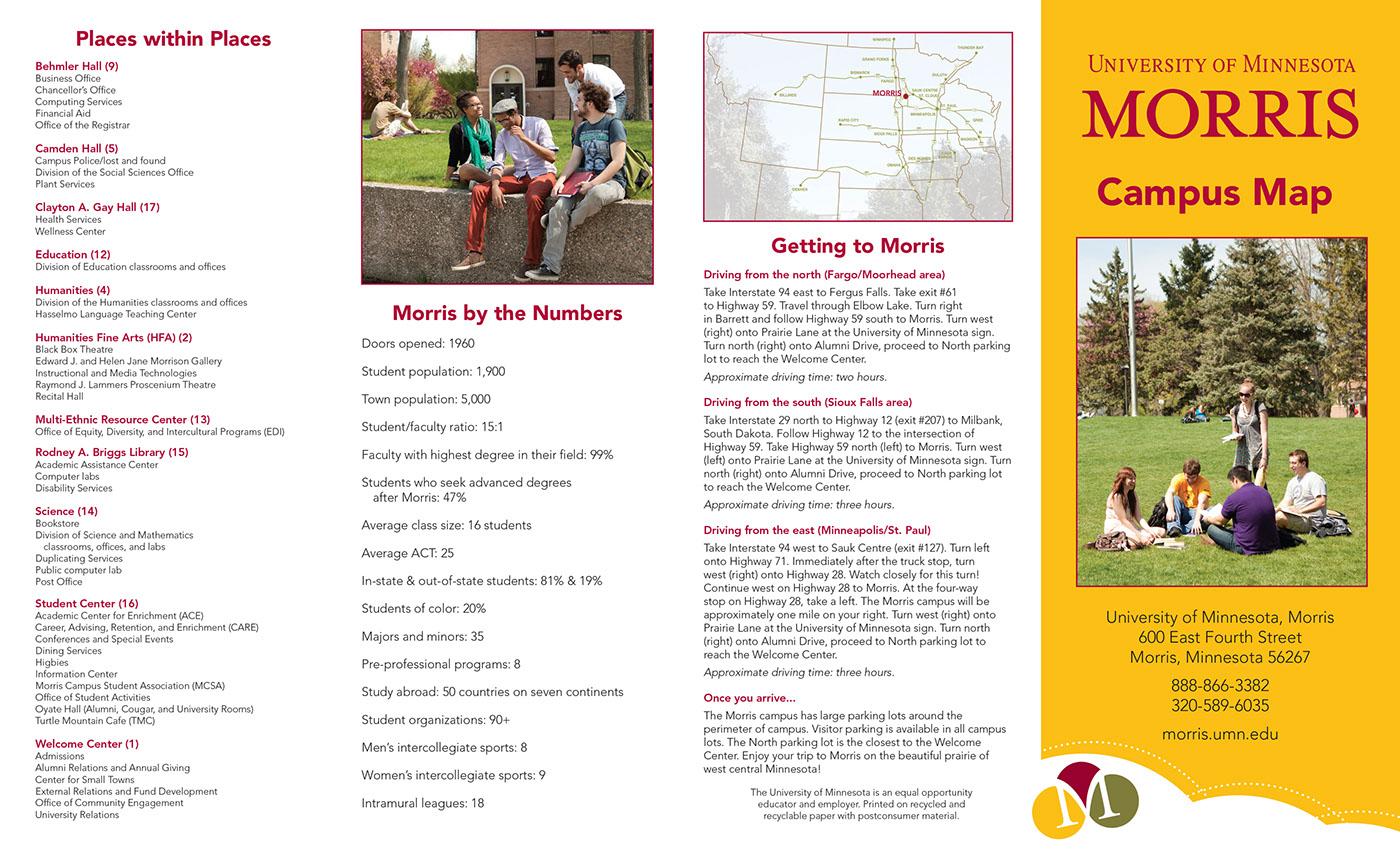 University of Minnesota, Morris Campus Map Brochure on Behance