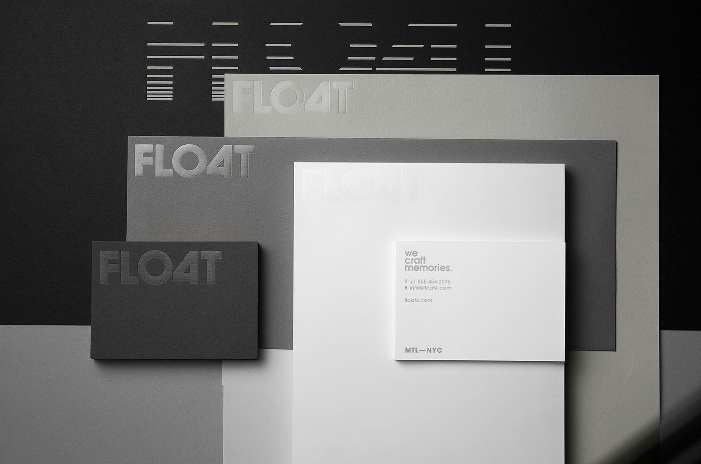 identity Stationery papers foilstamping Float4 design