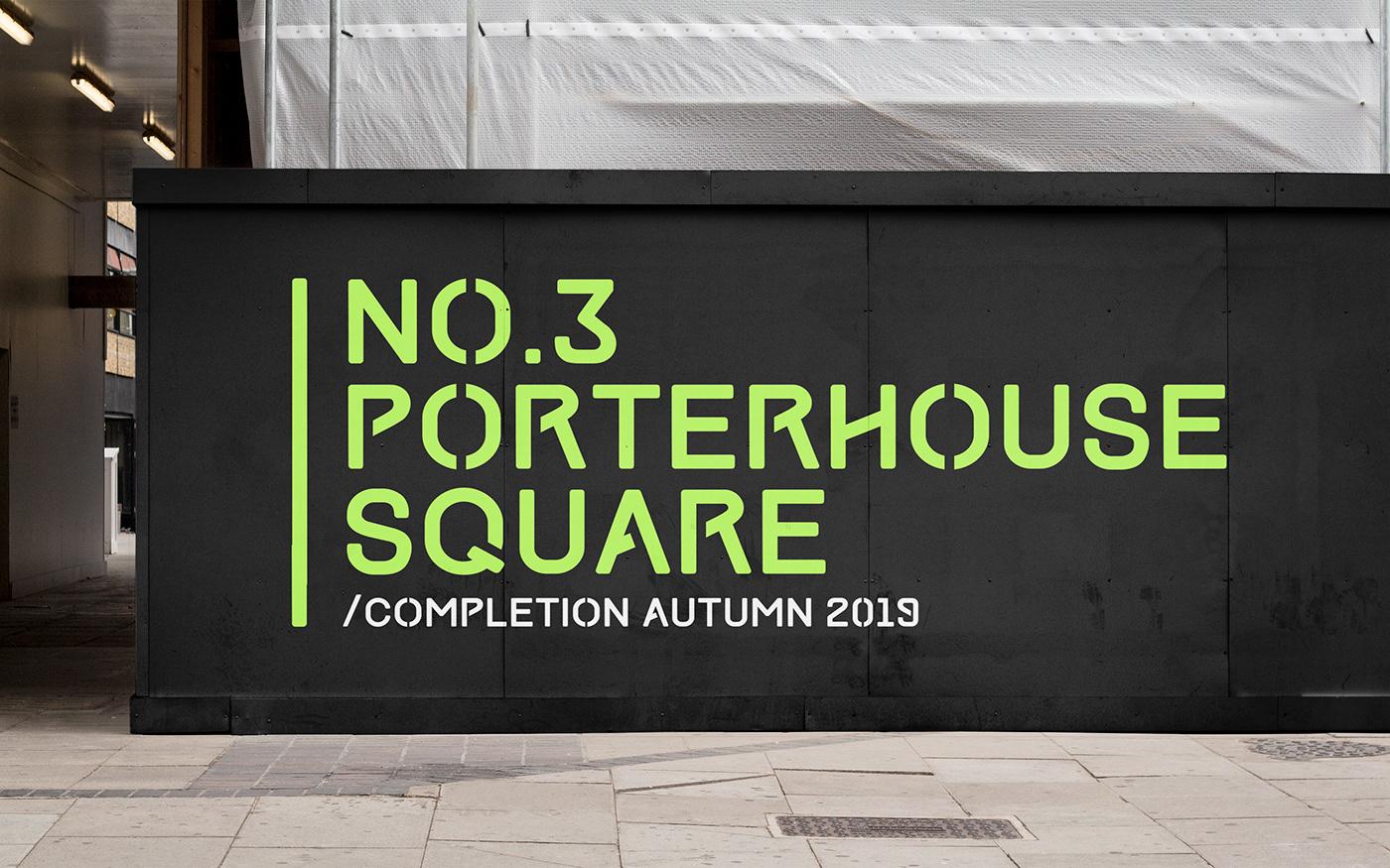 building Retail porthouse square construction Typeface materials complex contemporary Proposal