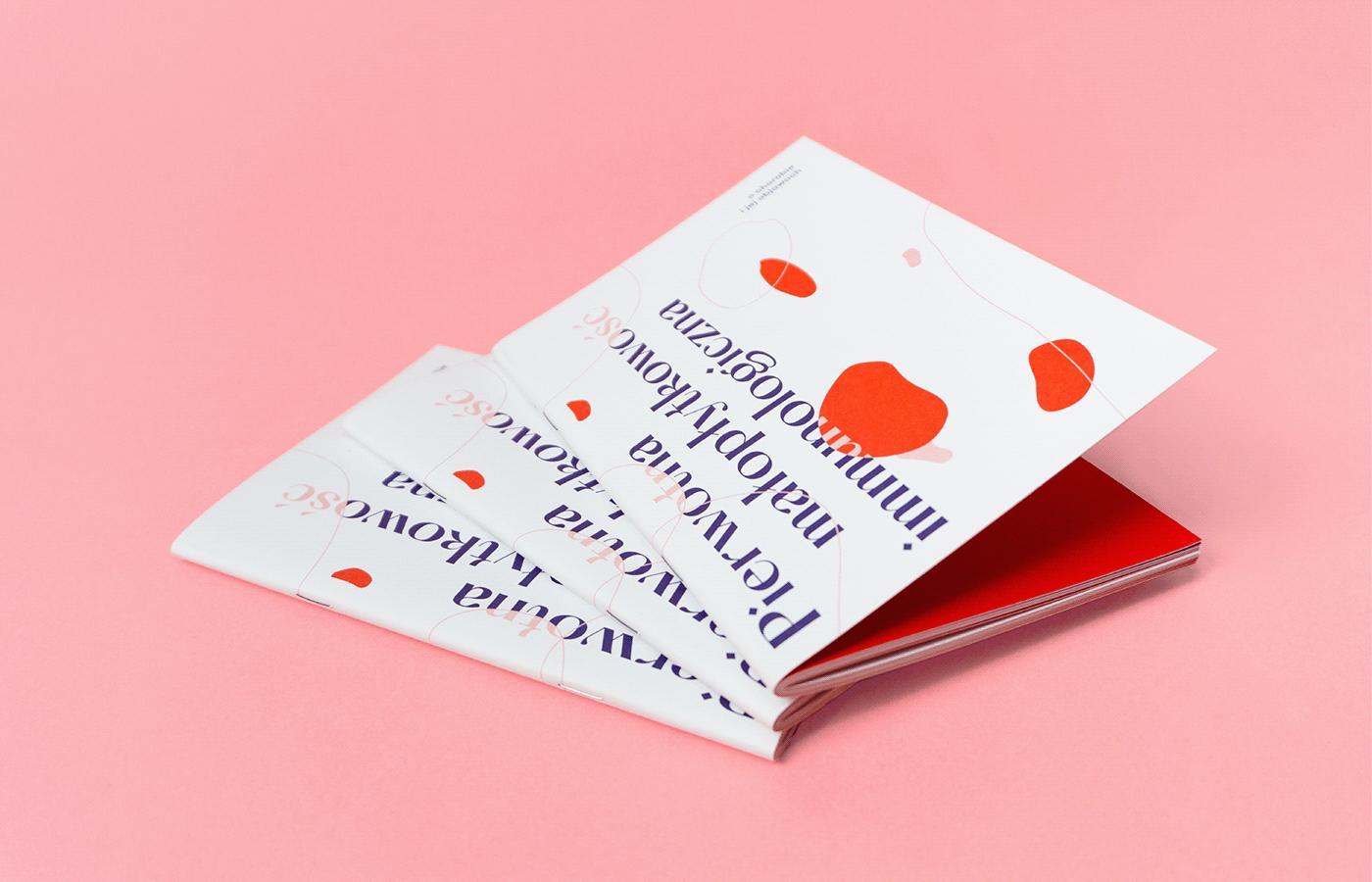 book Booklet brochure Design Book editorial graphic design  ILLUSTRATION  pink Print Book typography
