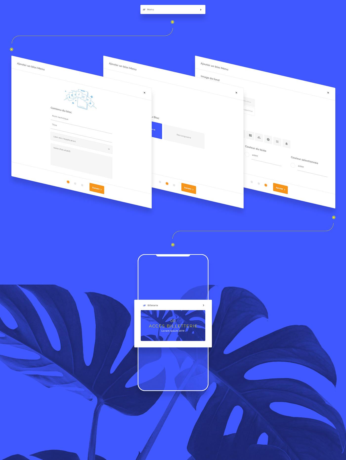 ux UI landing Conception page Event app navigation Interface dashboard