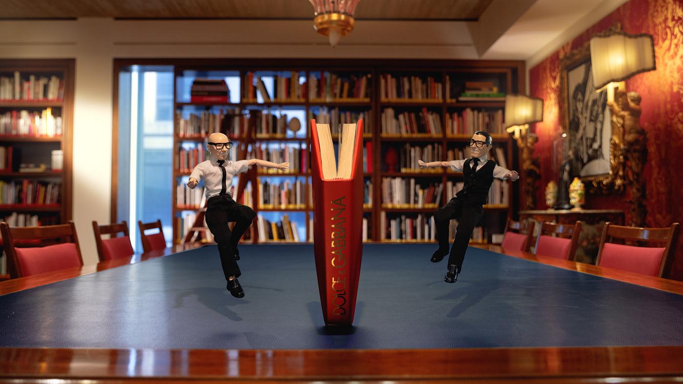 Advertising  animation  campaign Christmas dolce e gabbana Fashion  Happycentro motion design puppet animation stop motion animation