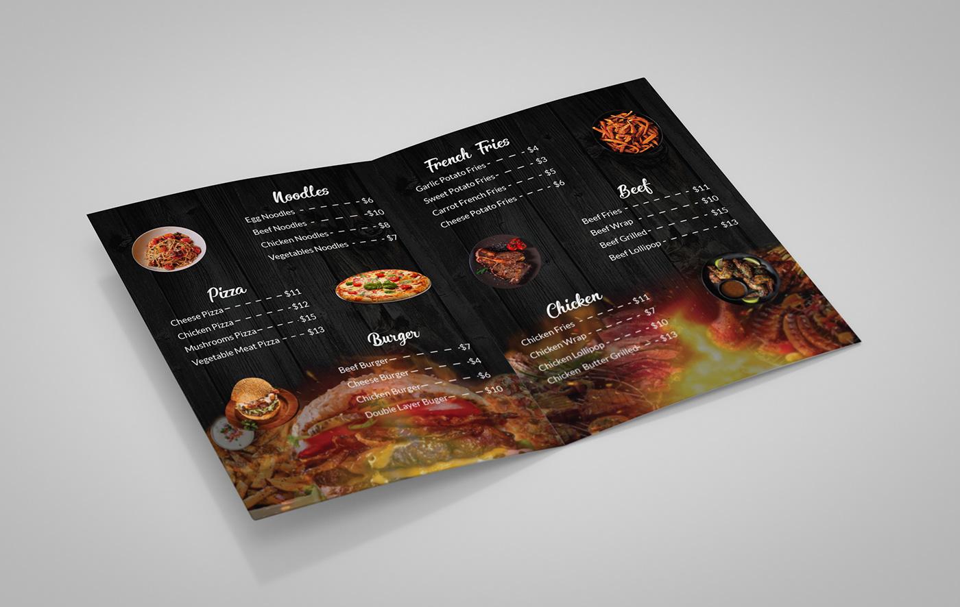 Image may contain: book, food and menu