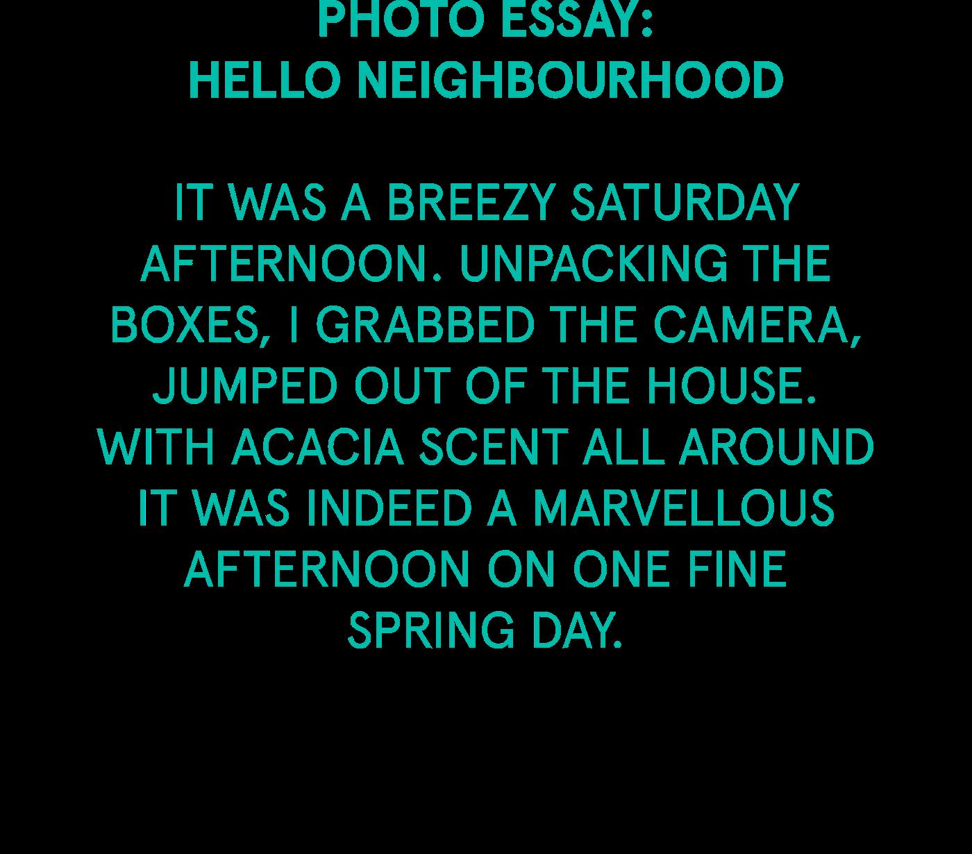 Essay on neighbourhood