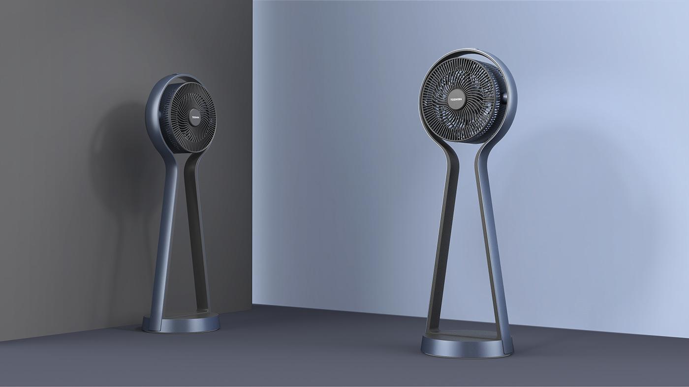 electric fan Fashion  furniture design  household appliances industrialdesign modern product design  styling  tornado Toshiba