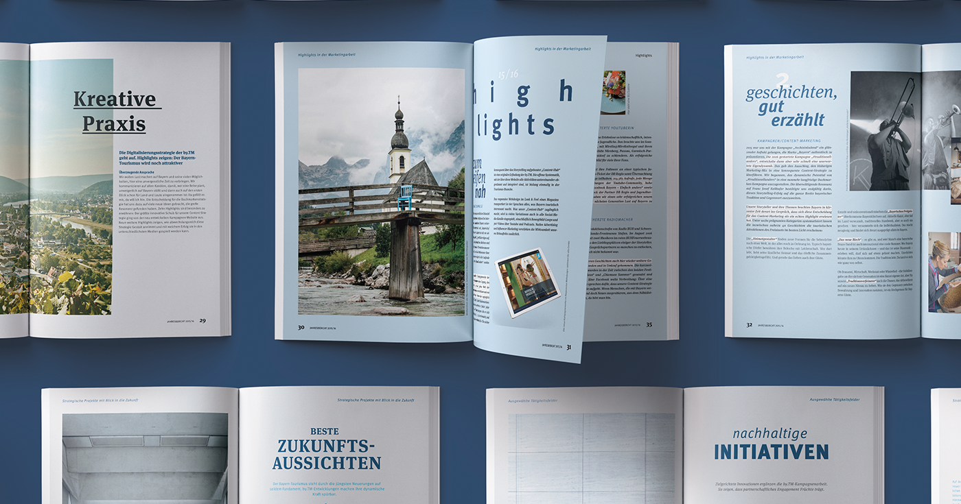 Bavaria print lead Mockup ilustration Bayern Tourismus Travel design hotel