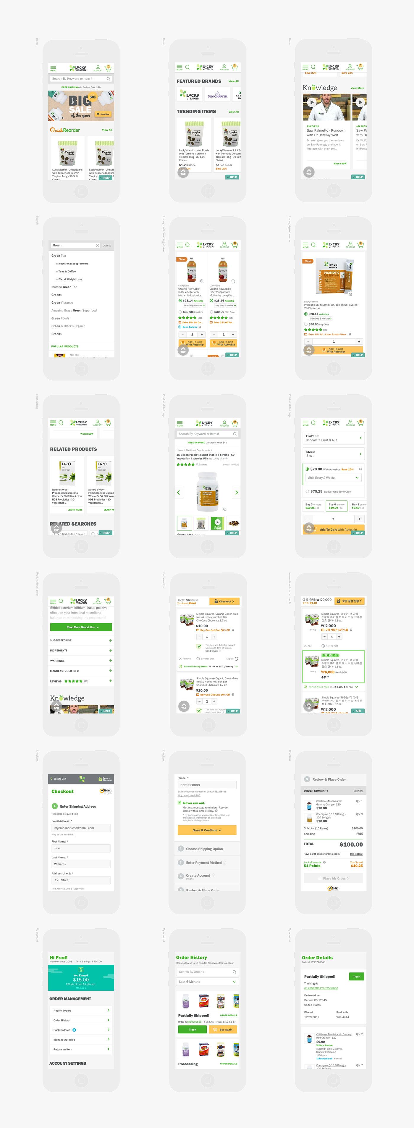 Adaptive Responsive Health Wellness green Ecommerce