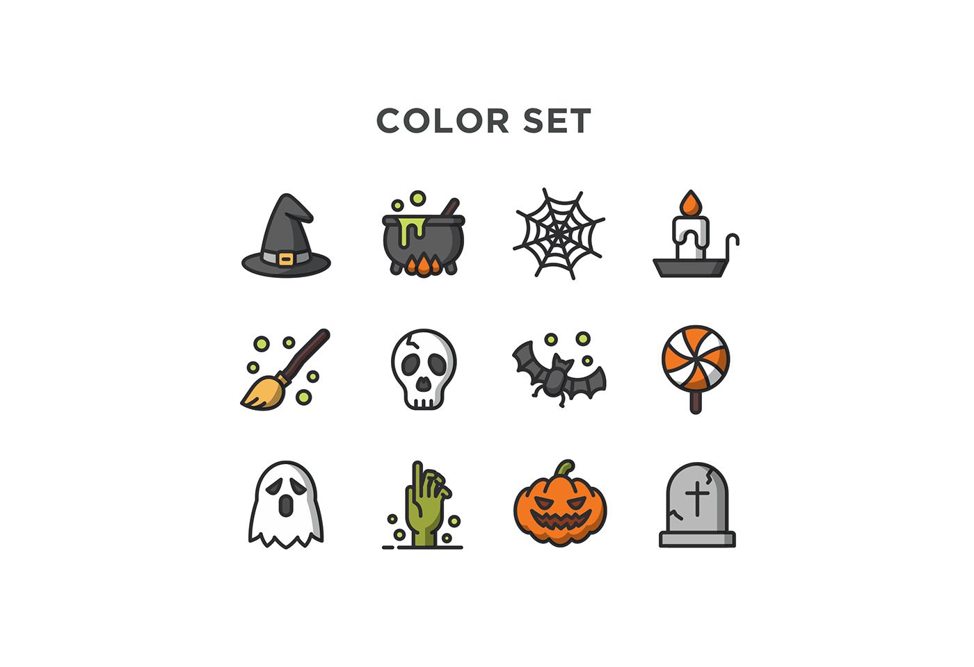 free icons free download icon flat  Halloween free icon zombie witch pumpkin