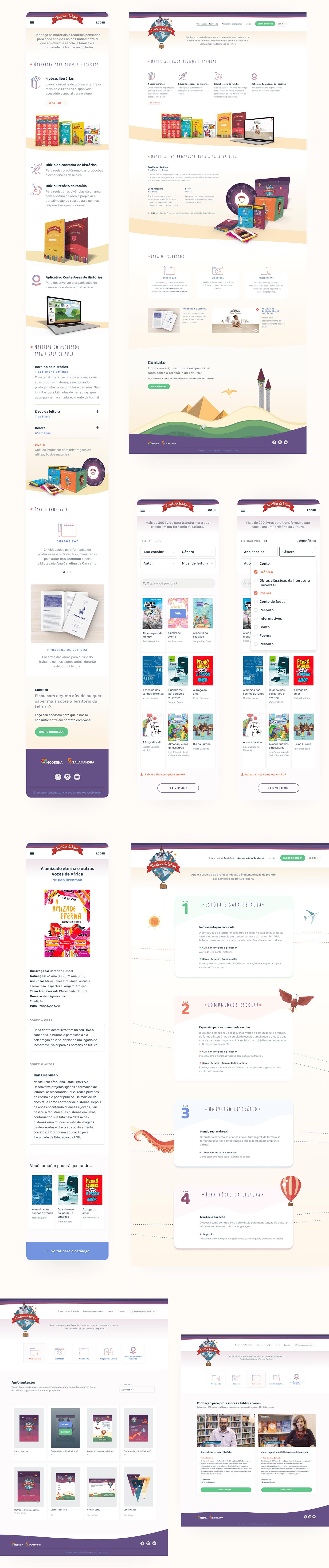 book catalog children books children's litrature educational project primary school Responsive Design