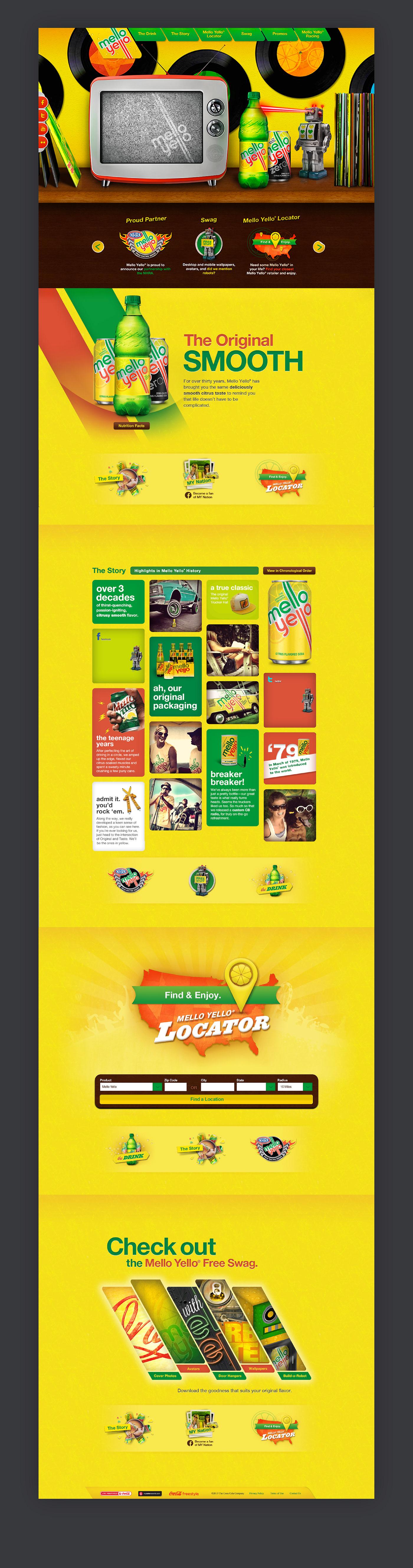 Mello Yello Coca-Cola interactive Web mobile Responsive
