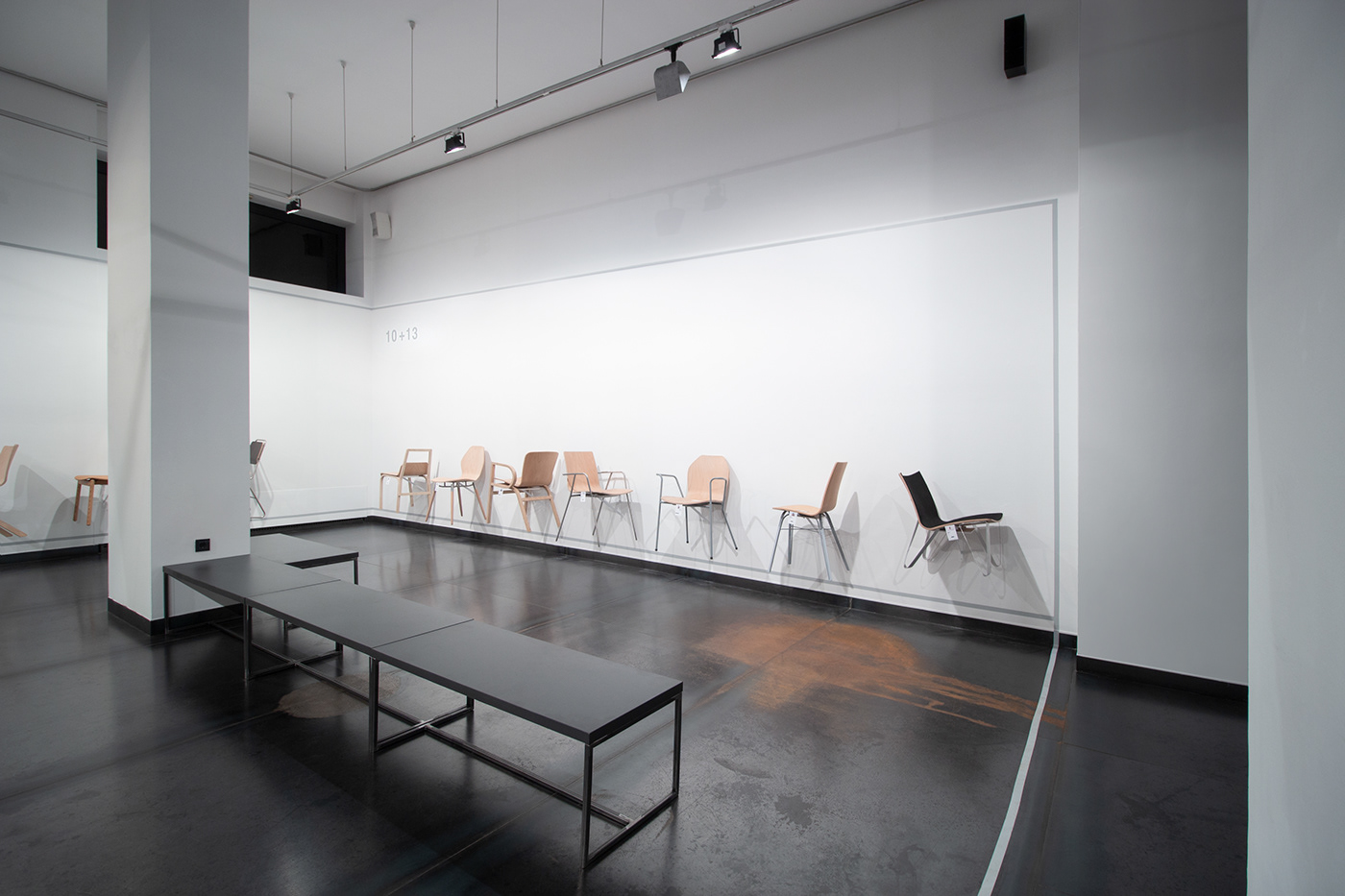 Exhibition  industrial mome IO LINE AND ROUND furniture design  chair experimental steel floating chairs