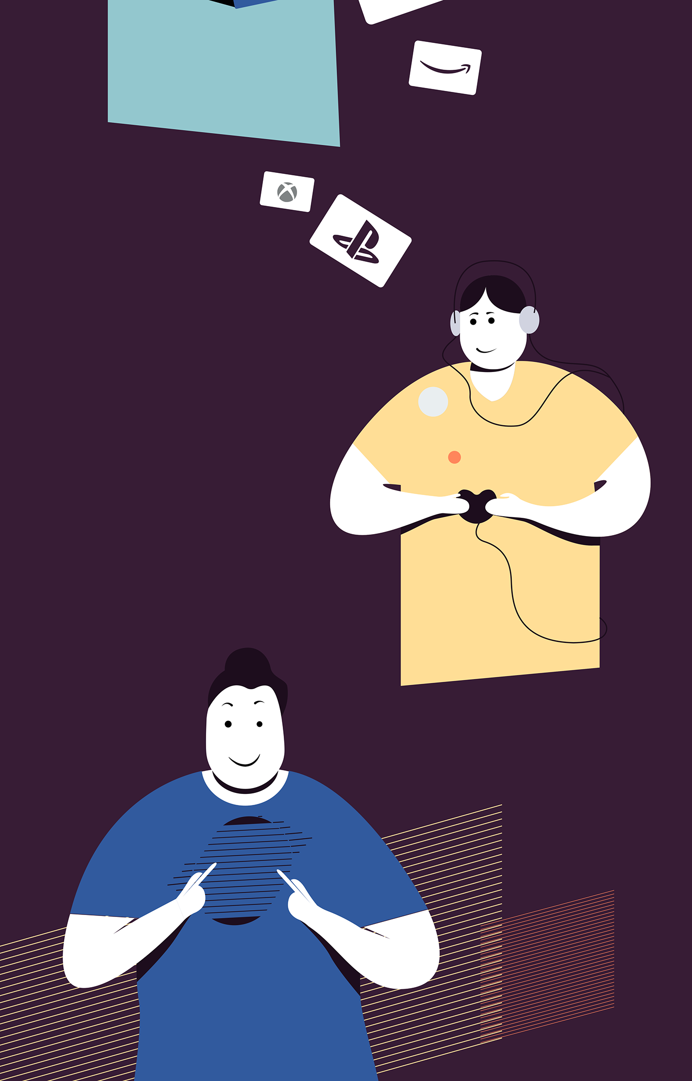 graphic illustrations UI user-interface