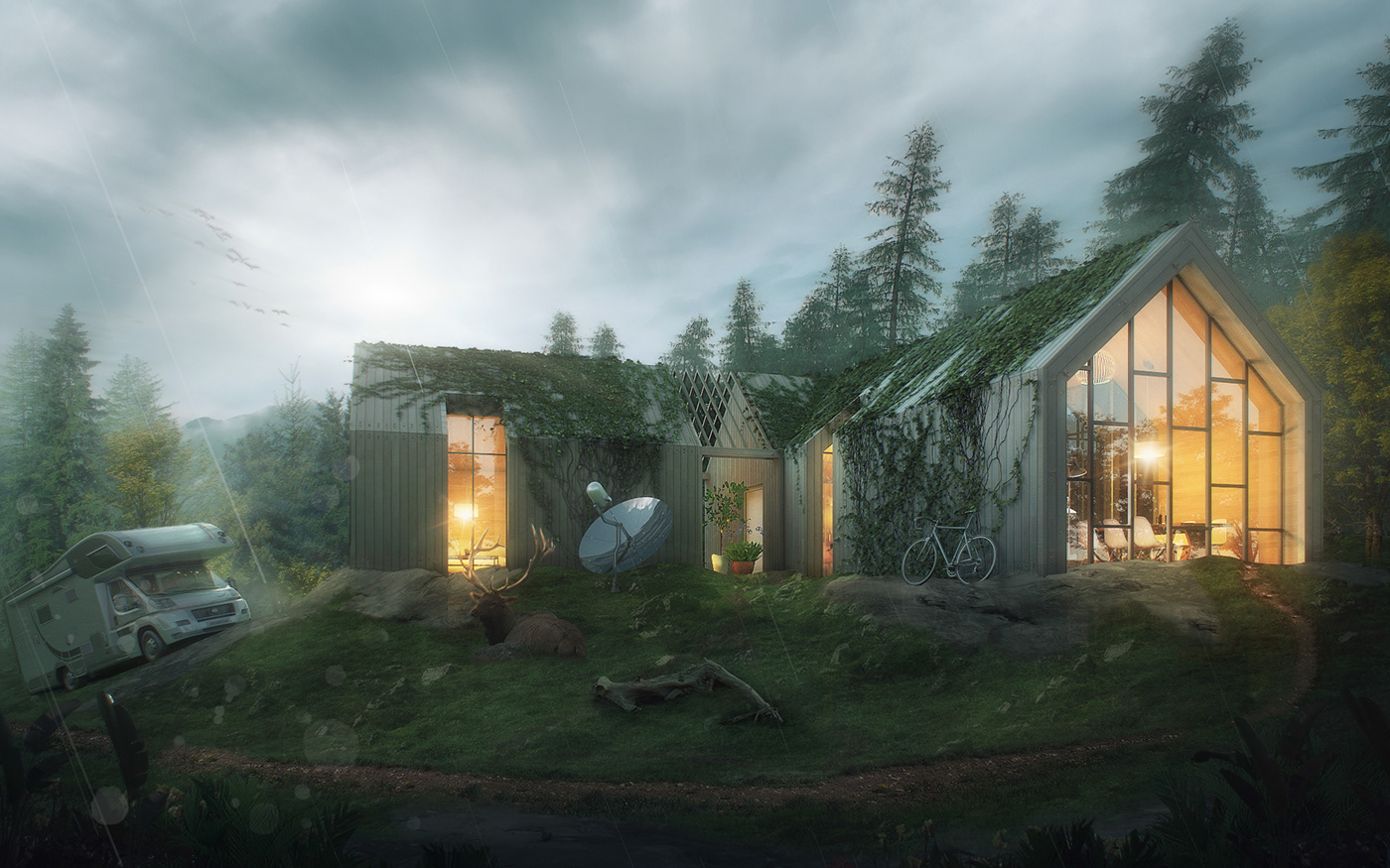 Exterior rendering,visualization