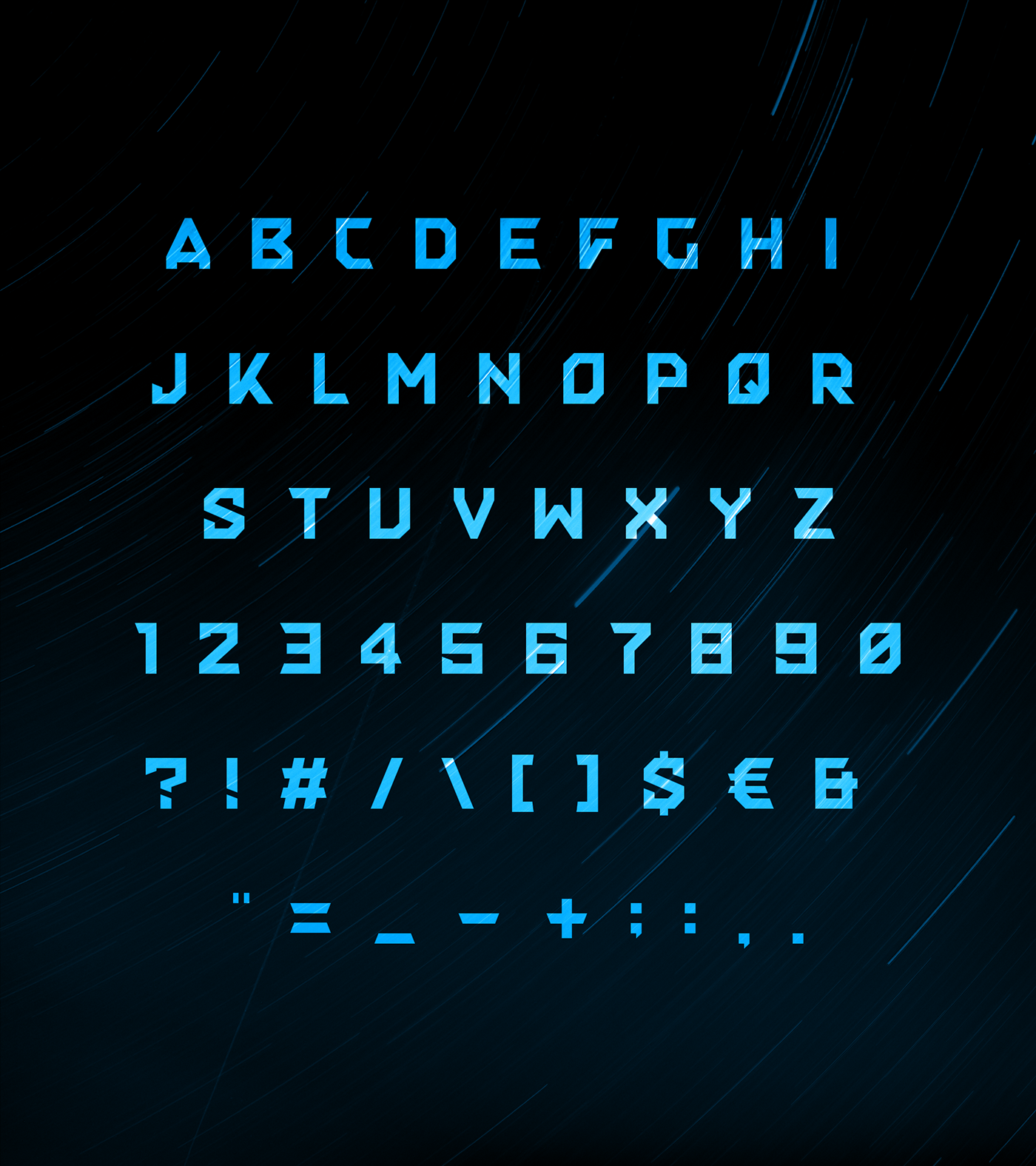typography   font type Typeface Scifi Space  High Tech