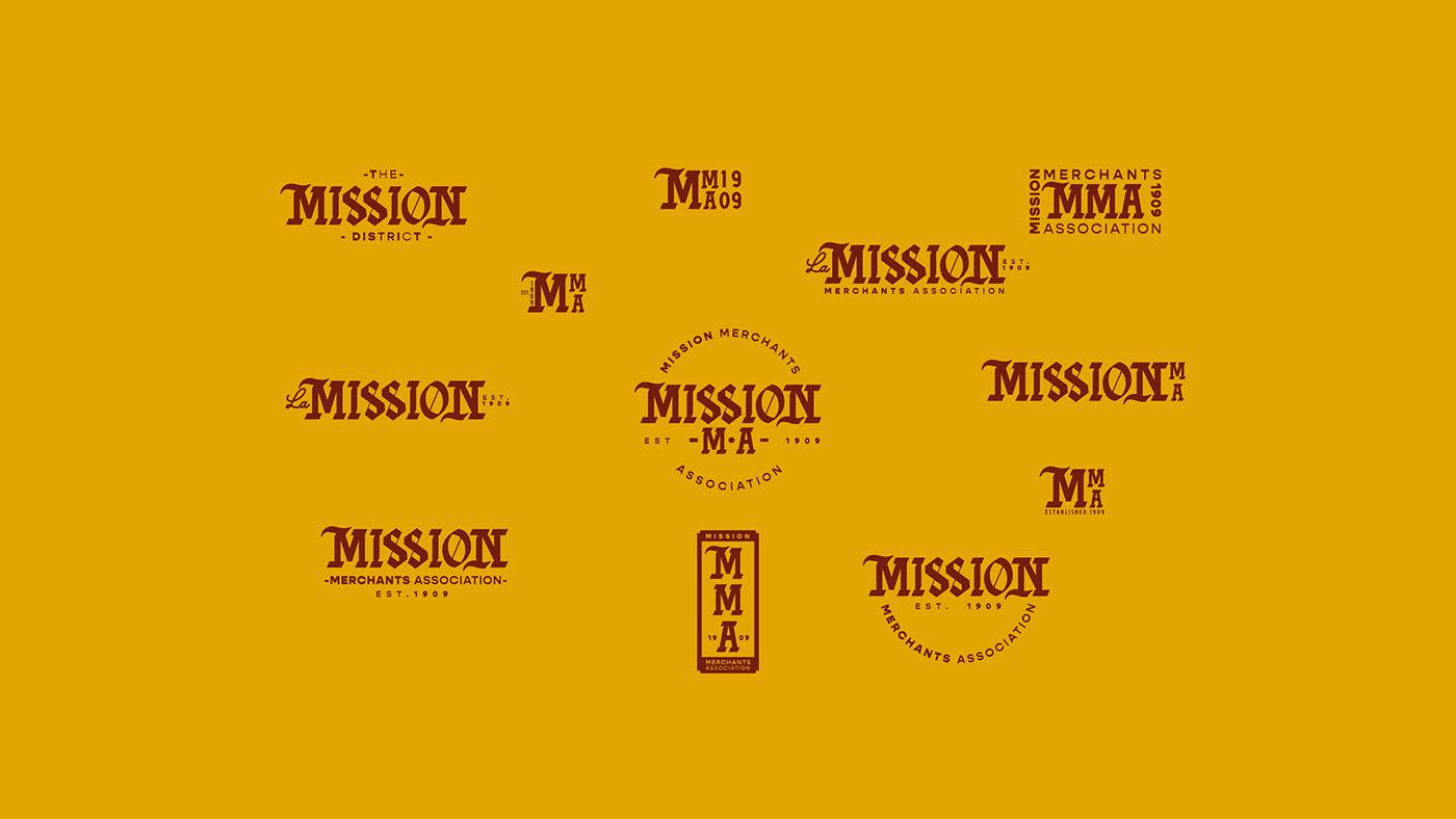 branding  California district DUNK heritage mission sanfrancisco