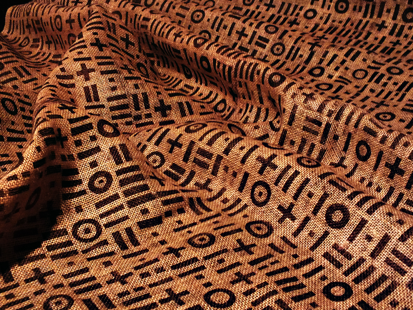 linocut,object,fabric,Artistic Fabric