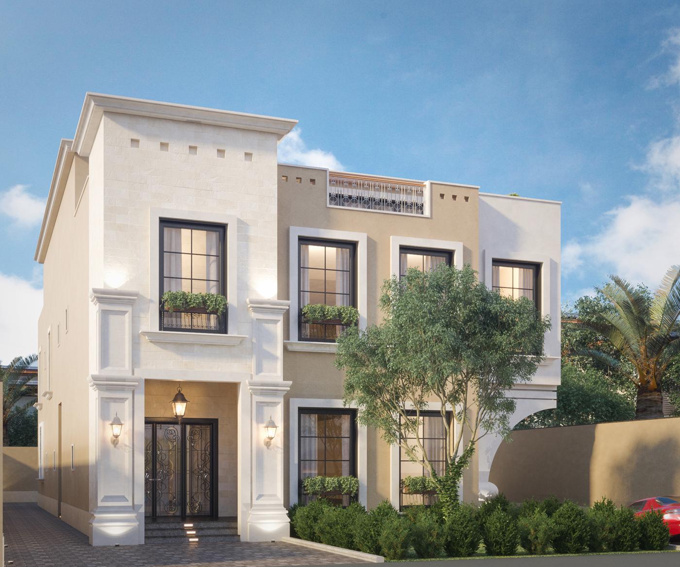 Villa house exterior