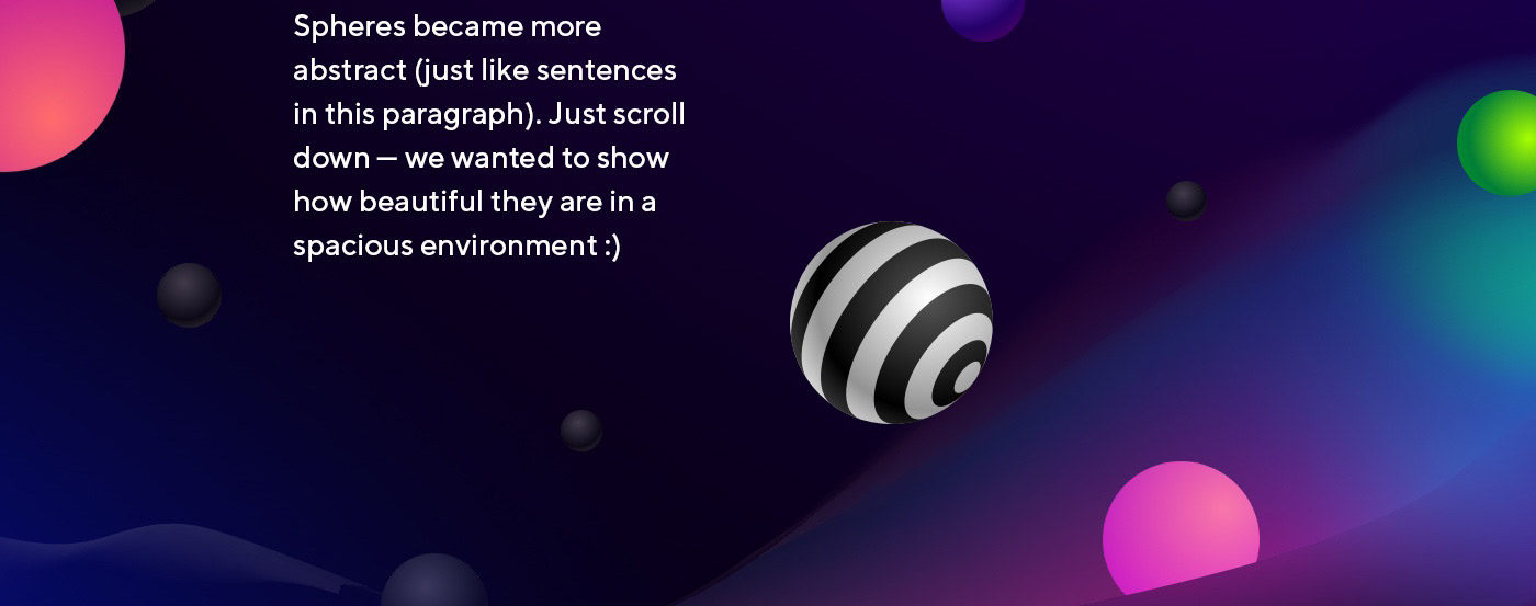 sphere ball presentation Event mail Email promo landing presswall circle