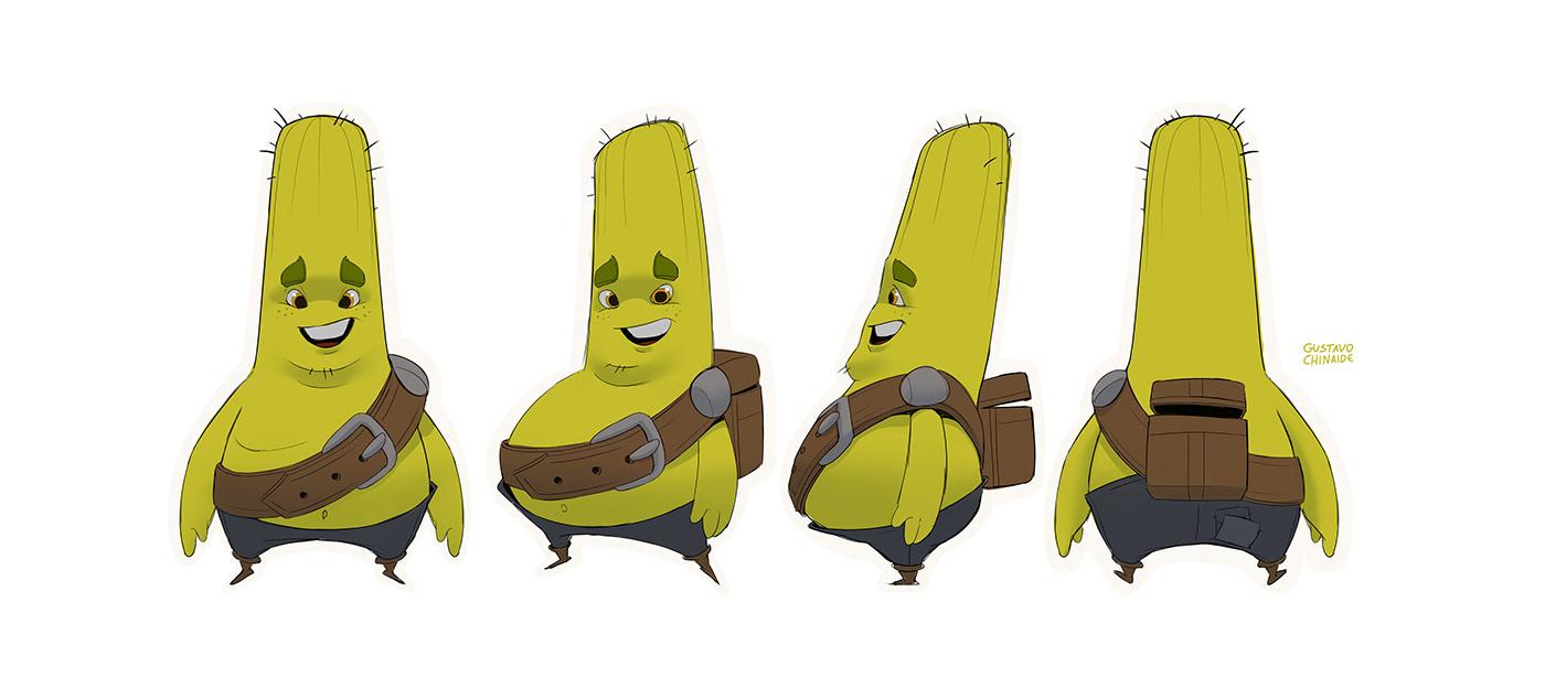 animation  cactus cartoon Character design  character designer cloud concept art stylized VisDev Visual Development