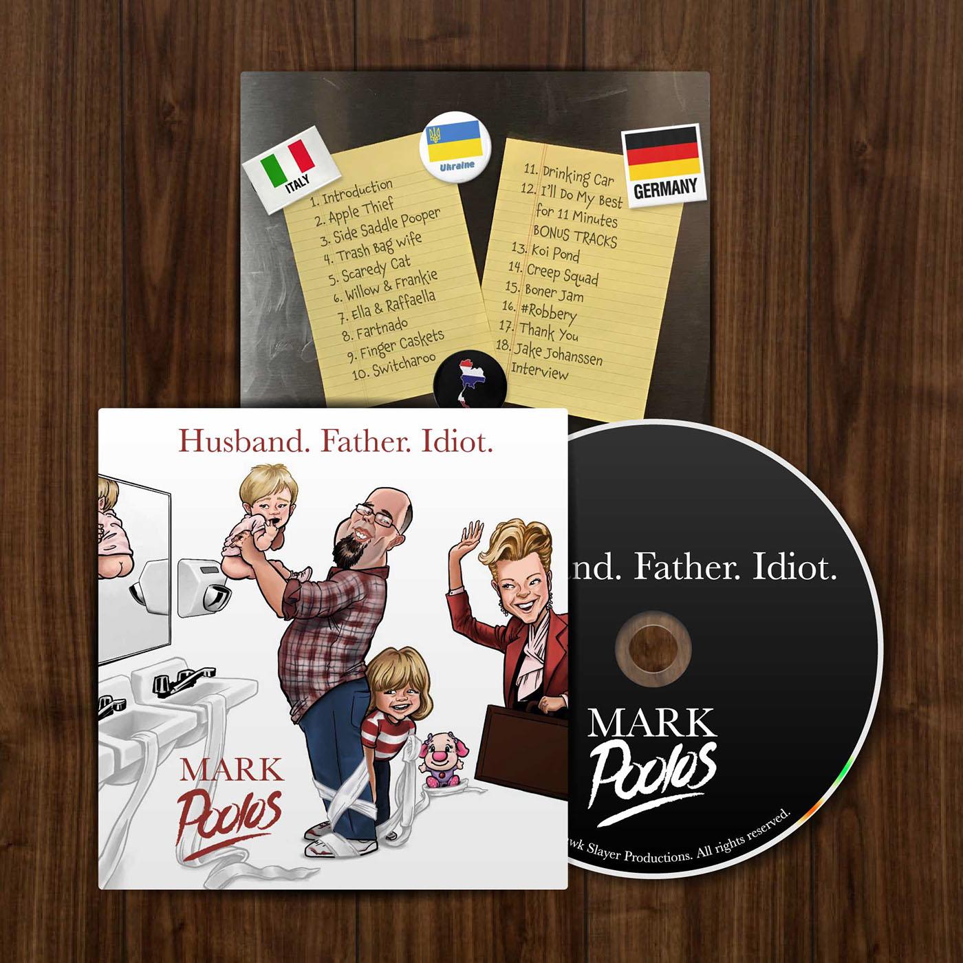 Procreate caricature   comedy  Album design