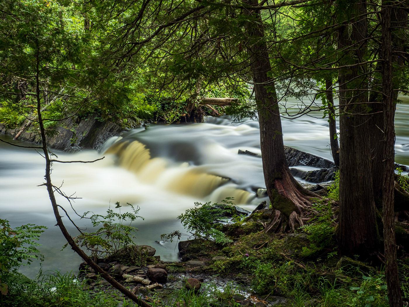 Kawarthas Landscape motionblur movement Nature Ontario river Waterfalls