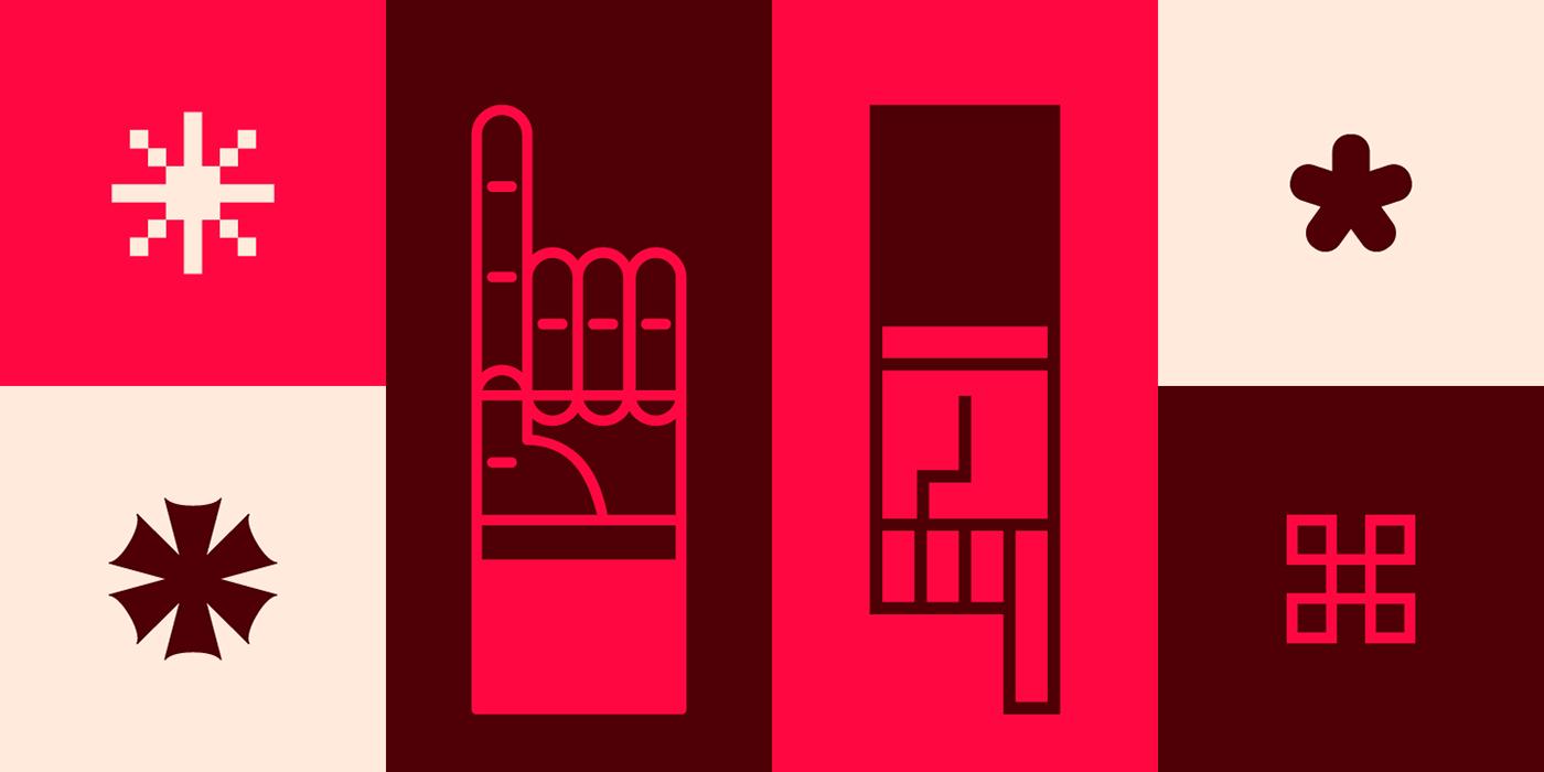 Dada finger pointing index hand manicule God god's symbol dingbat font type download