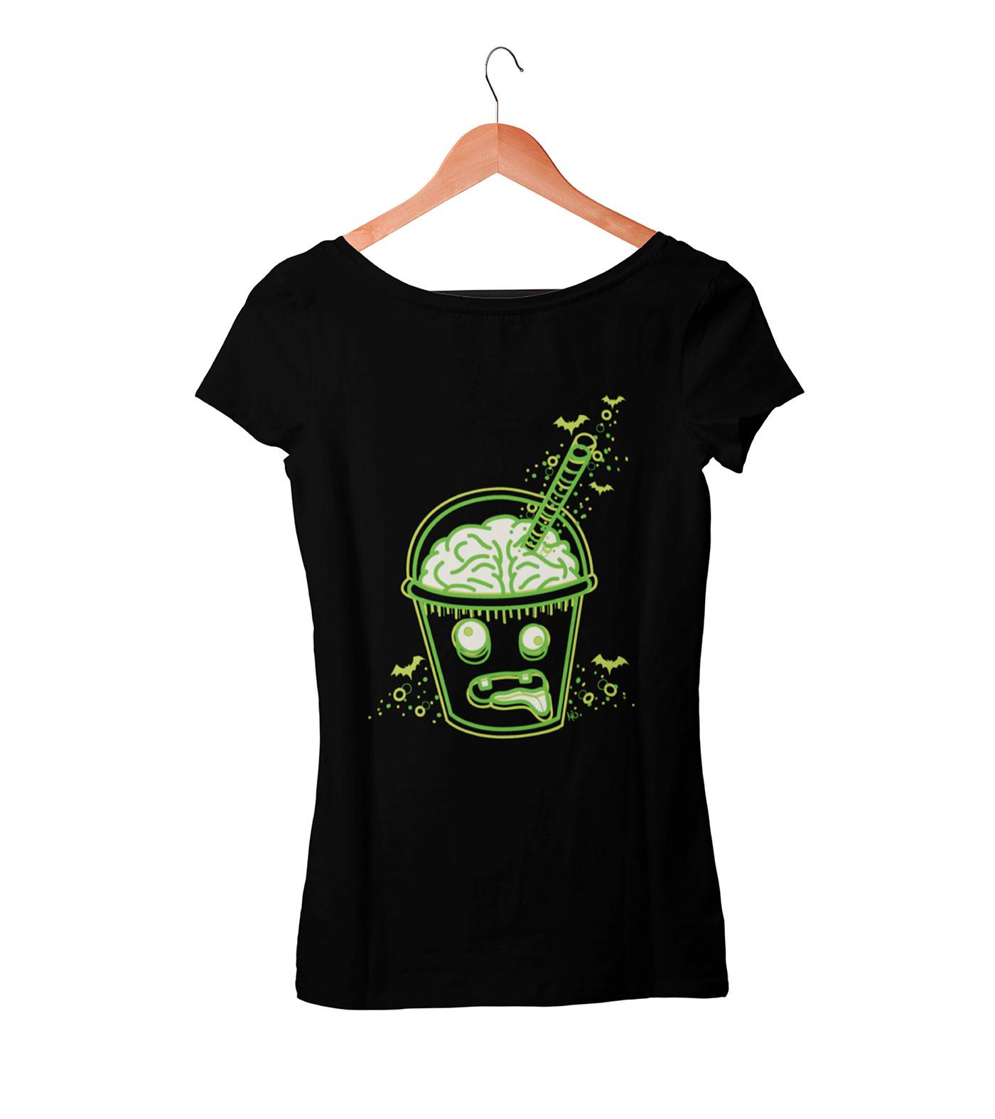 camisetas Diseños Halloween horror ilustracion zombie Digital Art  ilustración digital moda psychobilly meeting