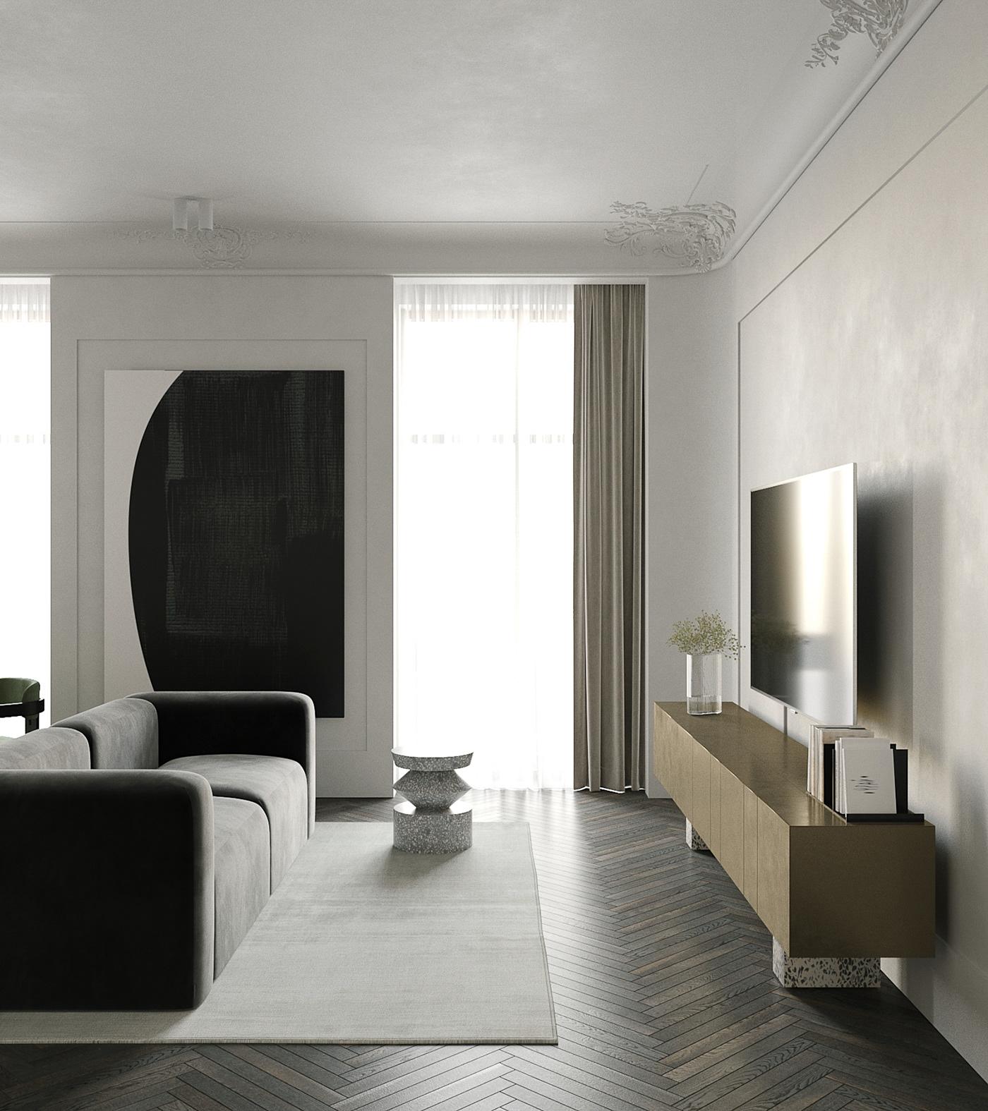 classical interior interior design  modern and classic modern interior apartment interior design appartment interior archviz Interior SGI