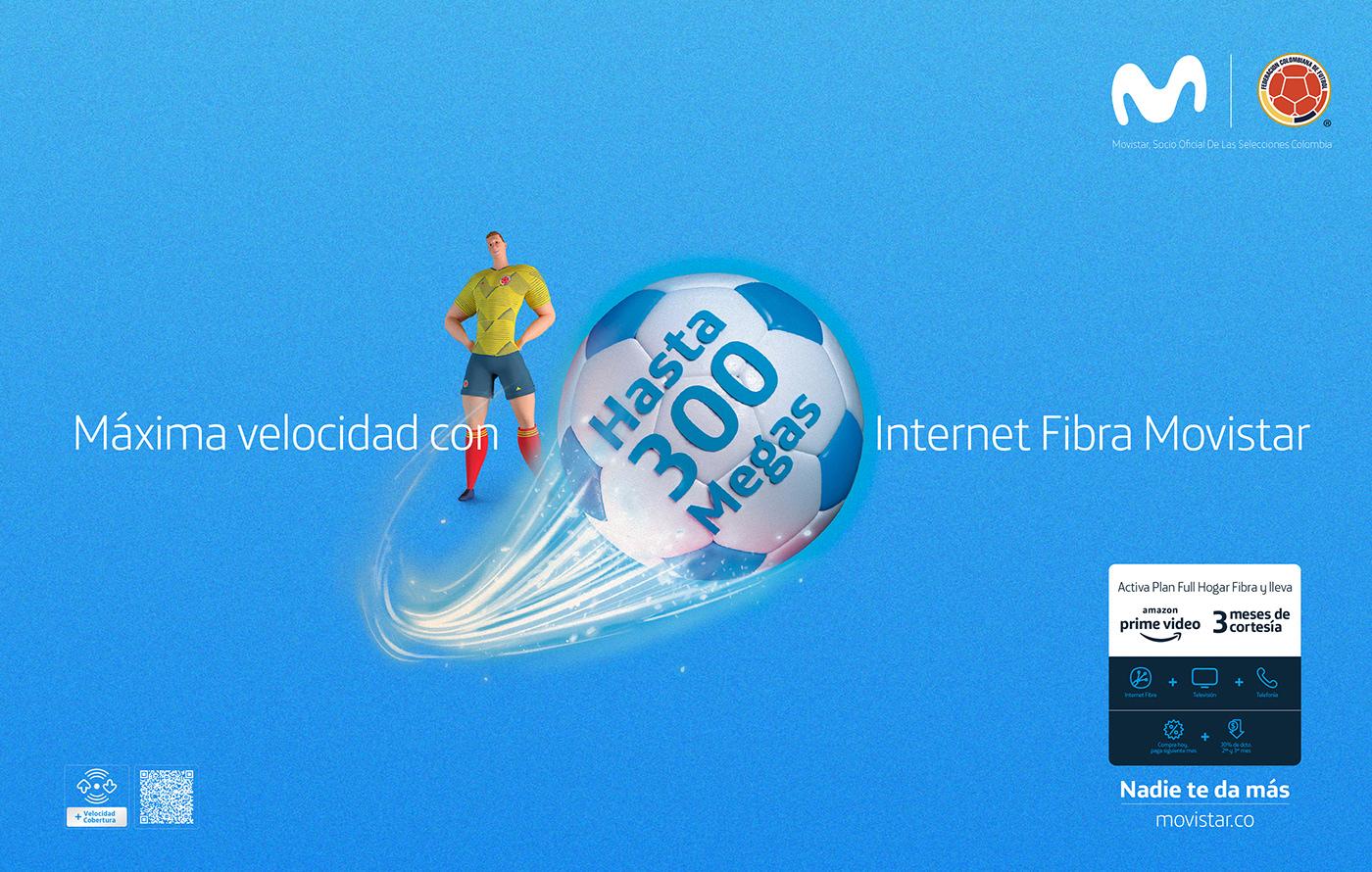 3D 3dcharacter colombia cuadrado falcao Futbol james movistar seleccioncolombia soccer