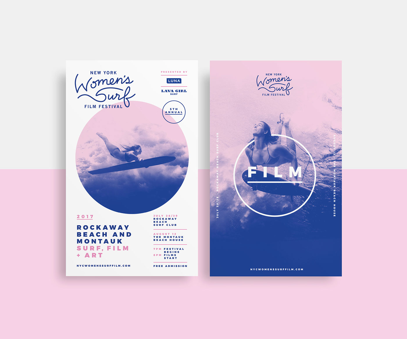 Event Event Branding branding  Surf film festival poster tickets Film   women