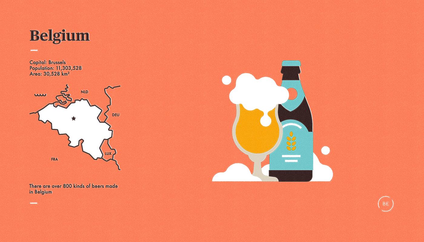 vintage Travel map hockey flat beer infographic Layout stamp logo