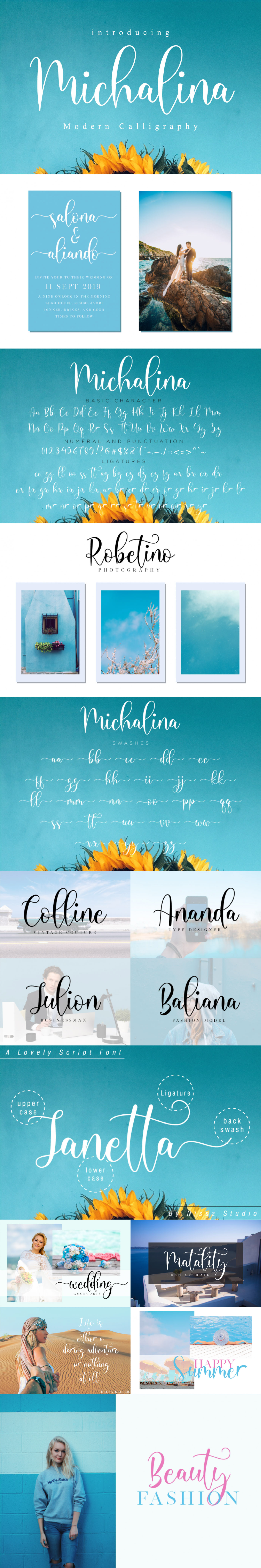Шрифт – Michalina