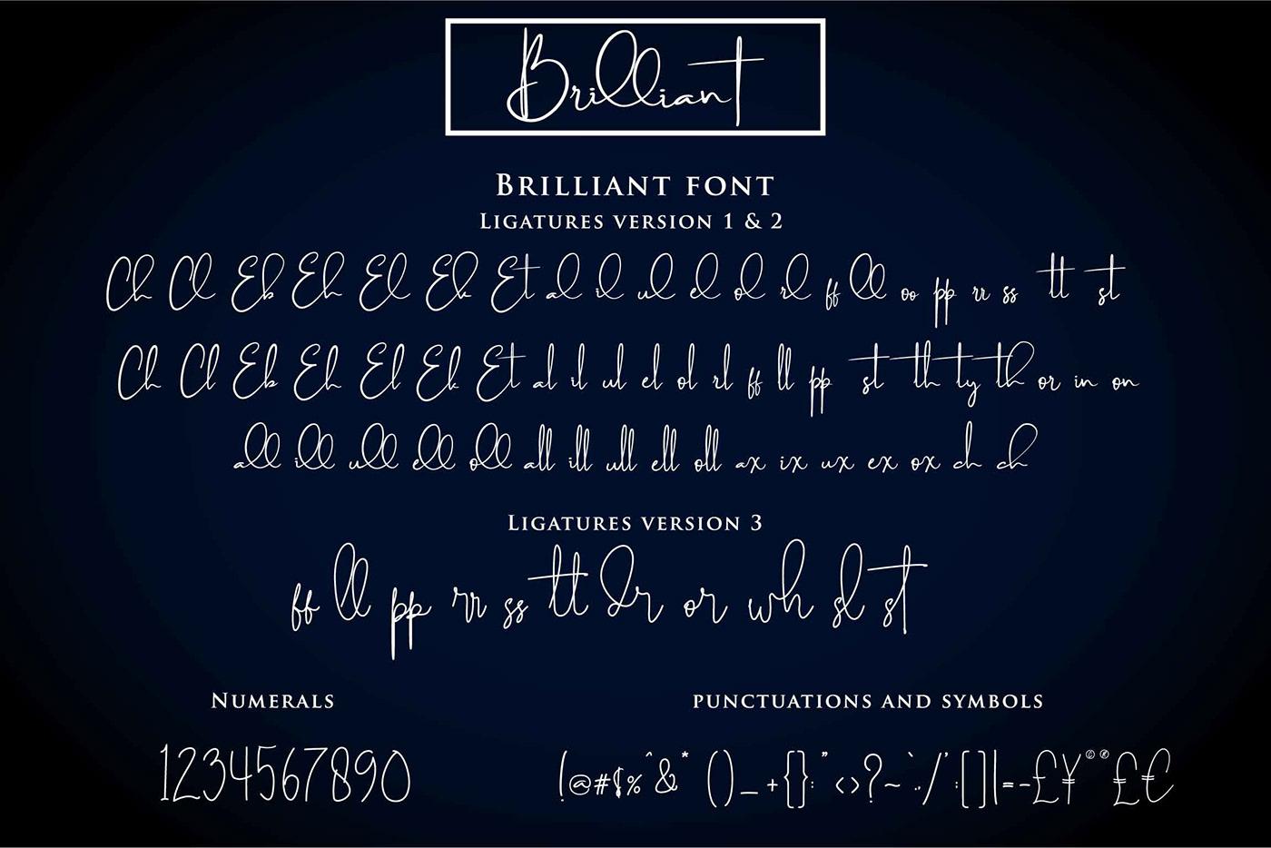 free handwritten Script font Typeface signature