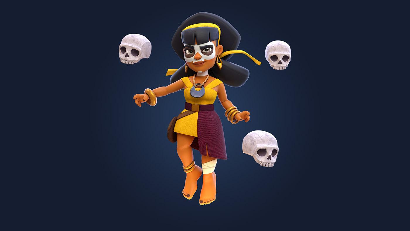 Clash,royale,shaman,Magic  ,skull,cartoon,animation ,game,supercell,fanart