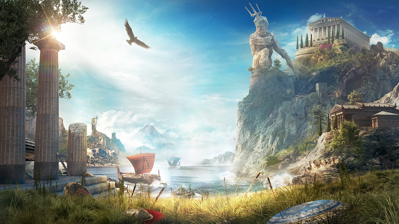Assassin 39 s creed odyssey on behance - Fantasy background ...