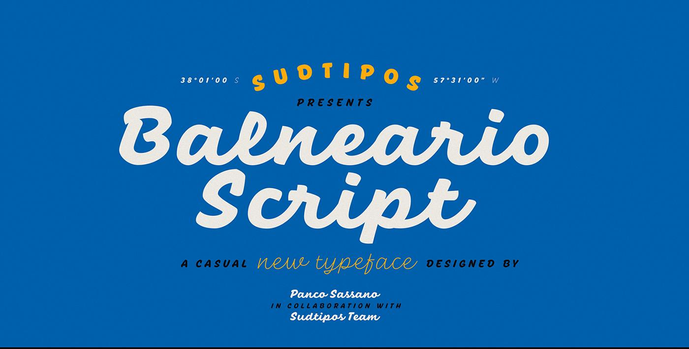 beach brush Brush. font handemade lettering Script singpainter type