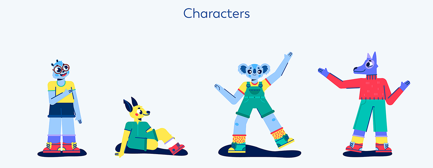 2D animation  character animation Character design  explainer motion graphics