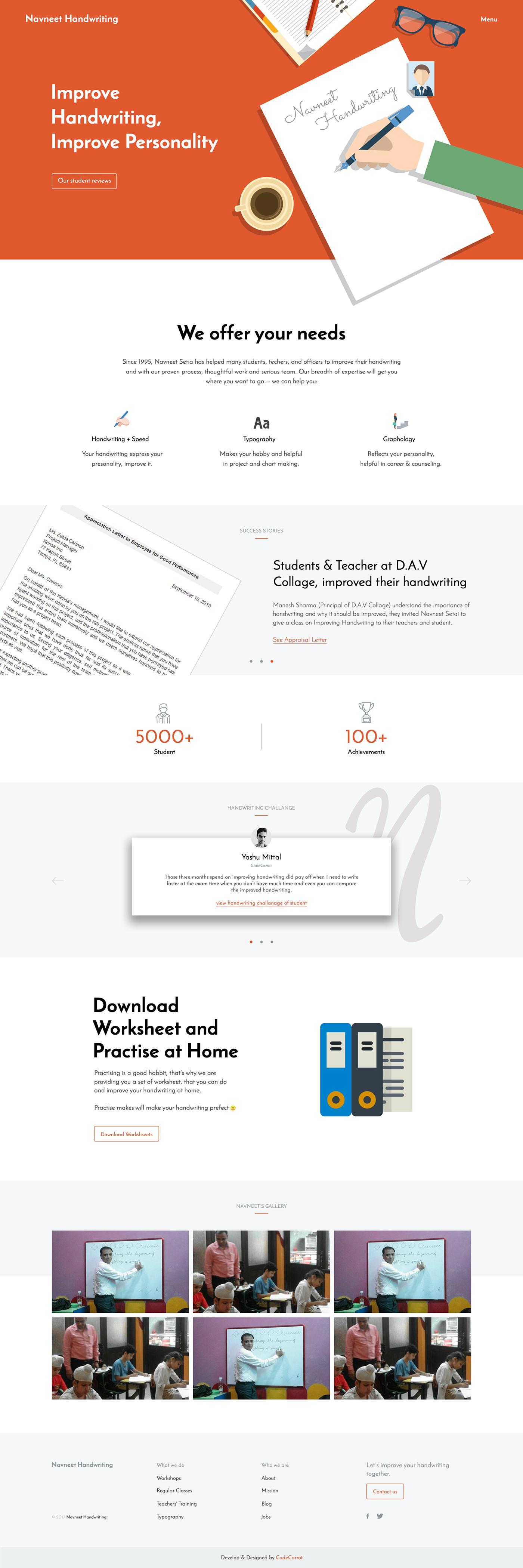 handwriting Calligraphy   Website designing Web Design