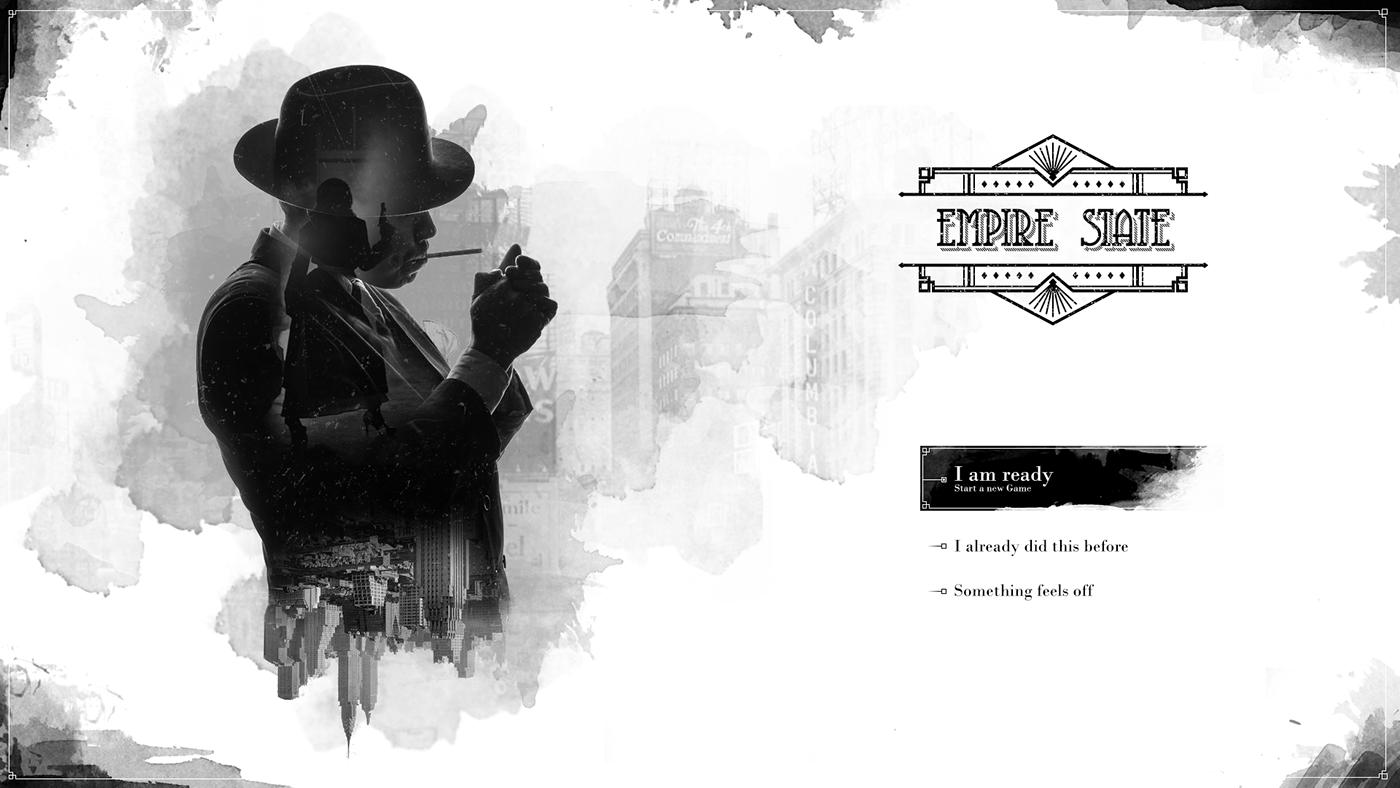 film noir Games ui design