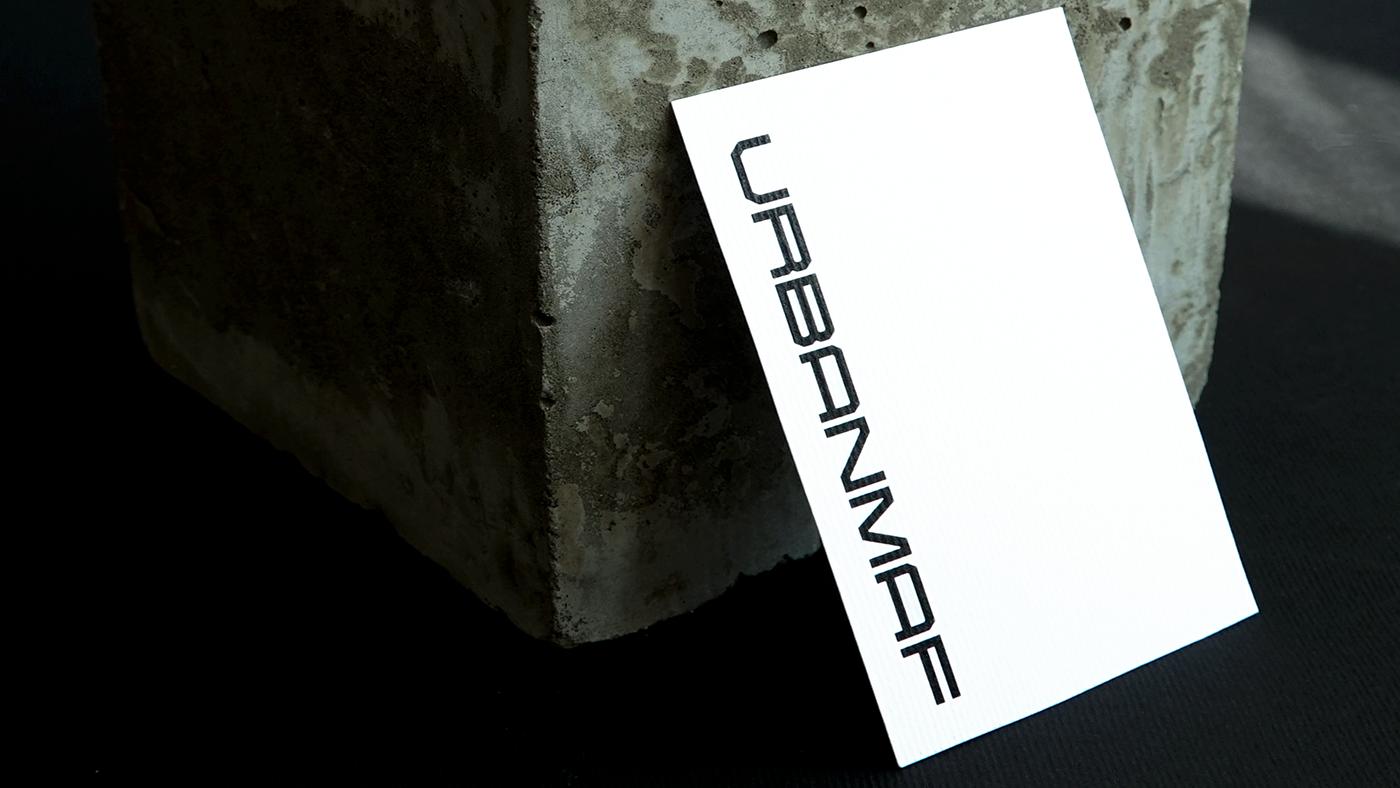 identity brand street furniture Urban logo Brutalism black Black&white concrete city