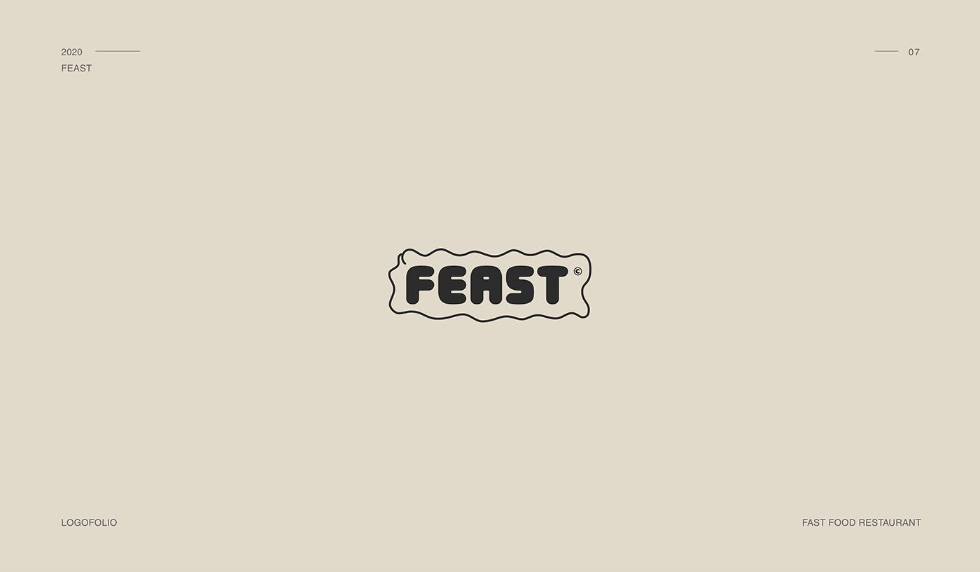 Feast logo, fast food  rest