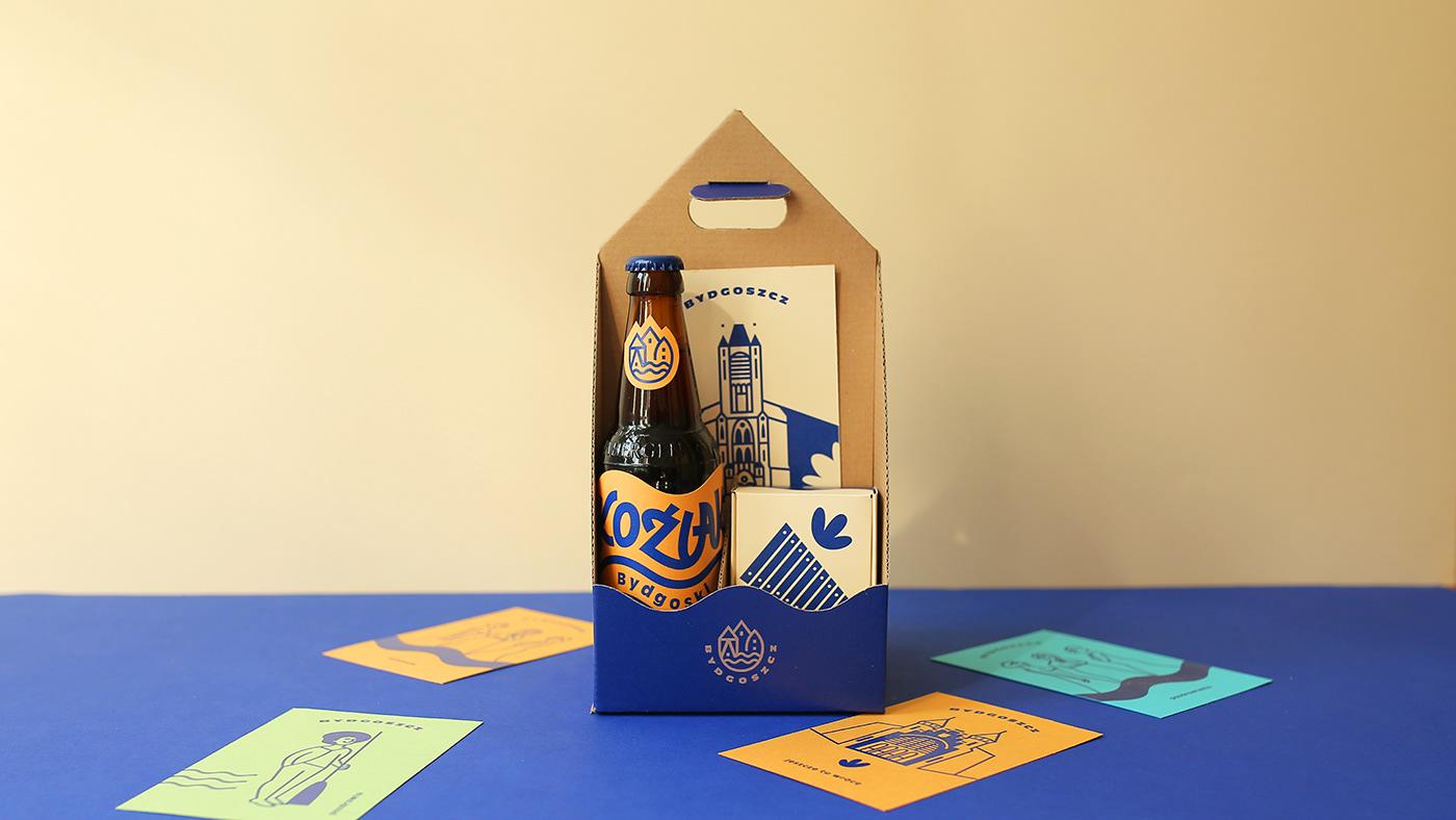 bydgoszcz city design graphic identification ILLUSTRATION  ilustracja Label opakowania Packaging