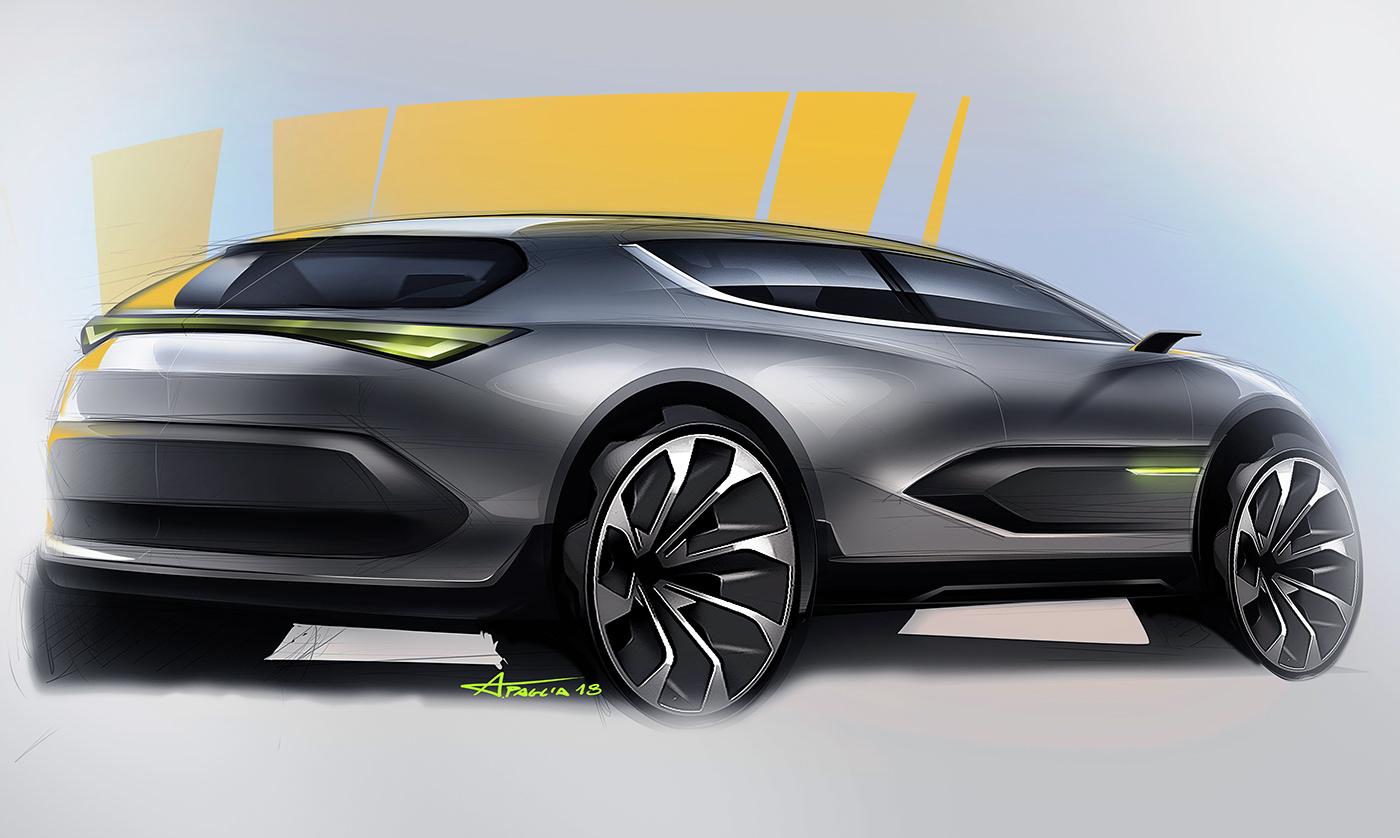 高品質的20個概念車草圖設計欣賞