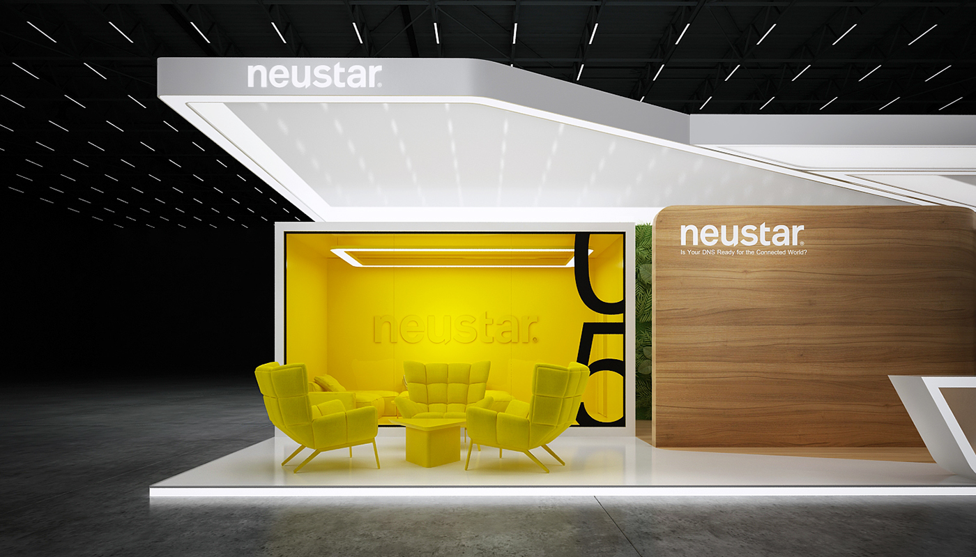 Exhibition Stall In : Neustar exhibition stand on behance