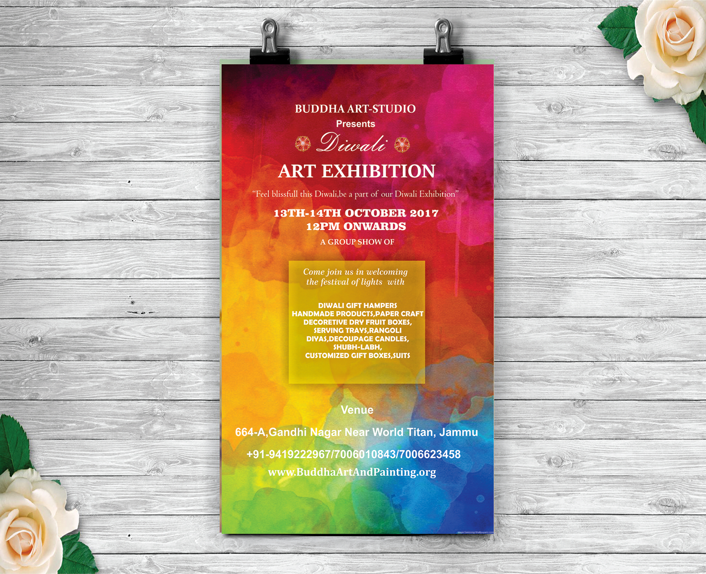 Invitation Card For A Art Exhibition On Behance