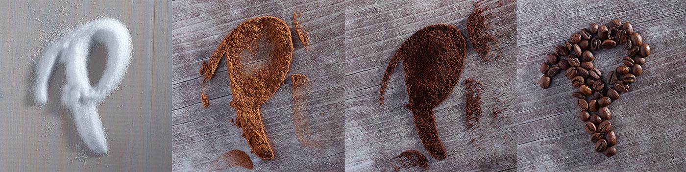 Coffee typography   cafe ingredients latte autumn design hand made drink pumpkin