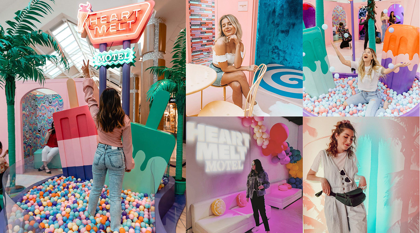 Experiential museum architecture instagram psychedelic pop up environmental design