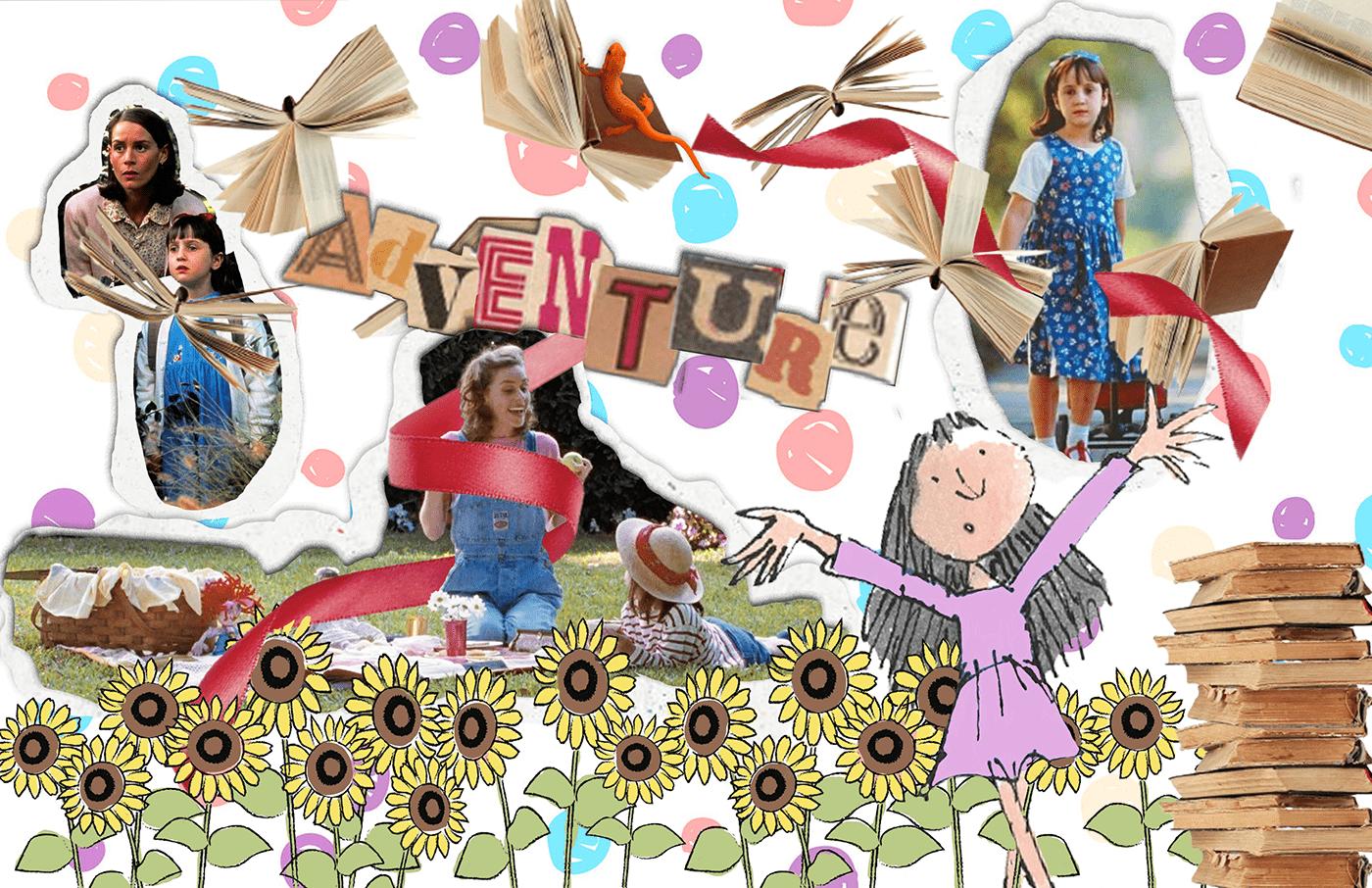 Childrens' wear dress final final project ILLUSTRATION  Illustrator Magic   matilda patchwork photoshop