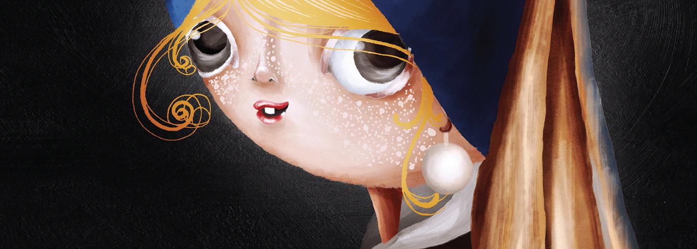 art Coraline Digital Art  digital illustration disney ILLUSTRATION  Ilustração naruto sally skellington  Stranger Things