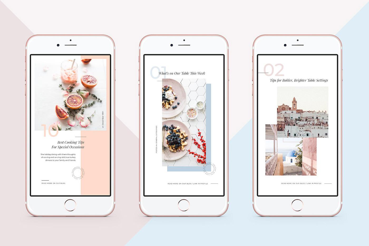 Food & Travel Instagram Stories Pack FREE DOWNLOAD! on Behance